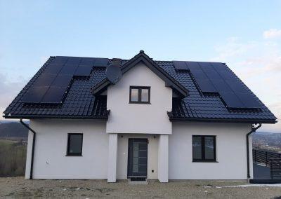 Instalacja kierunek - południe o mocy 7.13 kWp