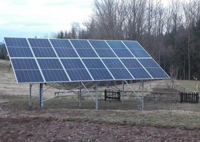 Instalacja na grunt kierunek południe o mocy 4.06 kWp